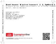 Zadní strana obalu CD Beethoven: Klavírní koncert č. 3, Symfonie č. 8