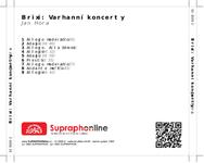 Zadní strana obalu CD Brixi: Varhanní koncerty