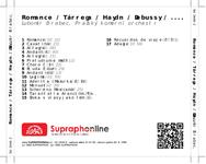 Zadní strana obalu CD Romance / Tárrega / Haydn / Debussy / ....