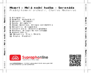 Zadní strana obalu CD Mozart: Malá noční hudba - Serenáda