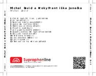 Zadní strana obalu CD Michal David a Kroky Františka Janečka