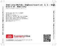 Zadní strana obalu CD Smetana/Dvořák: Smyčcový kvartet č. 1 - Smyčc. kvartet Americký