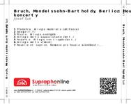 Zadní strana obalu CD Bruch, Mendelssohn-Bartholdy, Berlioz: Houslové koncerty