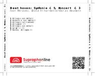 Zadní strana obalu CD Beethoven: Symfonie č. 5, Koncert č. 3