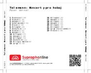 Zadní strana obalu CD Telemann: Koncerty pro hoboj