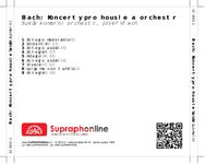 Zadní strana obalu CD Bach: Koncerty pro housle a orchestr