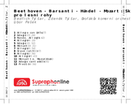 Zadní strana obalu CD Beethoven - Barsanti - Händel - Mozart: Skladby pro lesní rohy