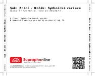Zadní strana obalu CD Suk: Zrání - Dvořák: Symfonické variace