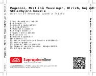 Zadní strana obalu CD Paganini, Martinů, Tausinger, Ulrich, Nejedlý: Skladby pro housle