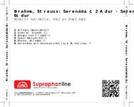 Zadní strana obalu CD Brahms, Strauss: Serenáda č. 2 A dur - Serenáda Es dur