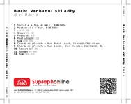 Zadní strana obalu CD Bach: Varhanní skladby