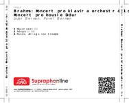 Zadní strana obalu CD Brahms: Koncert pro klavír a orchestr č. 1 d moll, Koncert pro housle D dur