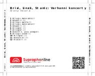 Zadní strana obalu CD Brixi, Linek, Stamic: Varhanní koncerty