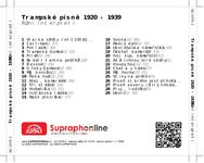 Zadní strana obalu CD Trampské písně 1920 - 1939