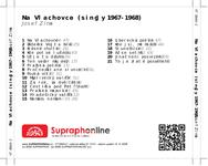 Zadní strana obalu CD Na Vlachovce (singly 1967-1968)