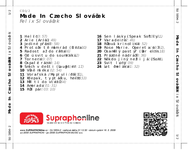 Zadní strana obalu CD Made In Czecho Slováček