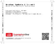 Zadní strana obalu CD Brahms: Symfonie č. 1 c moll