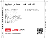 Zadní strana obalu CD Tenkrát a dnes (singly 1962-1977)