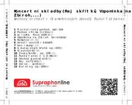 Zadní strana obalu CD Koncertní skladby (Rej skřítků, Vzpomínka na Zbiroh,...)