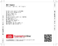 Zadní strana obalu CD Allegro