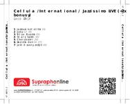 Zadní strana obalu CD Cellula /International/ Jazzissimo LIVE (+2x bonusy)