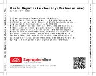 Zadní strana obalu CD Bach: Dogmatické chorály (Varhanní mše)