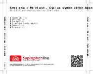 Zadní strana obalu CD Smetana : Má vlast. Cyklus symfonických básní