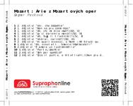 Zadní strana obalu CD Mozart: Árie z Mozartových oper