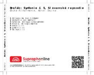 Zadní strana obalu CD Dvořák: Symfonie č. 5, Slovanské rapsodie