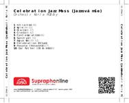 Zadní strana obalu CD Celebration Jazz Mass (Jazzová mše)