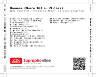 Zadní strana obalu CD Ramona (Dance Hits. Oldies)