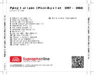 Zadní strana obalu CD Pyšný tulipán (Písničky z let 1957 - 1964)