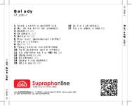 Zadní strana obalu CD Balady