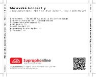 Zadní strana obalu CD Moravské koncerty