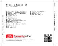 Zadní strana obalu CD Classic Essential