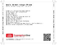 Zadní strana obalu CD Louis Armstrong v Praze