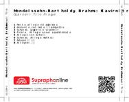 Zadní strana obalu CD Mendelssohn-Bartholdy, Brahms: Klavírní tria