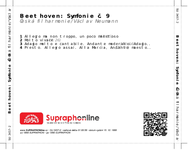 Zadní strana obalu CD Beethoven: Symfonie č. 9