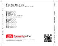 Zadní strana obalu CD Benda: Sinfonie