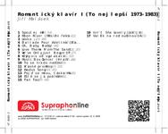 Zadní strana obalu CD Romantický klavír I (To nejlepší 1973-1983)