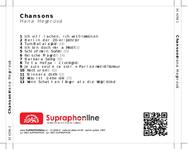 Zadní strana obalu CD Chansons