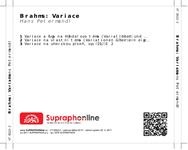 Zadní strana obalu CD Brahms: Variace