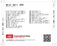 Zadní strana obalu CD Karel Gott 1974