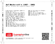 Zadní strana obalu CD Auf Wiederseh'n (1957 - 1965)