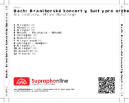 Zadní strana obalu CD Bach: Braniborské koncerty, Suity pro orchestr