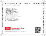 Zadní strana obalu CD Alessandro Grandi a mistři italského baroka