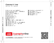 Zadní strana obalu CD Concertino