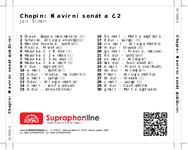 Zadní strana obalu CD Chopin: Klavírní sonáta č.2
