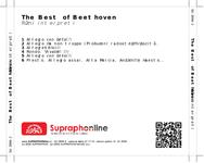 Zadní strana obalu CD The Best of Beethoven