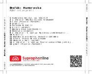 Zadní strana obalu CD Dvořák: Humoreska
